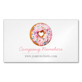 Donut Magnetic Business Card