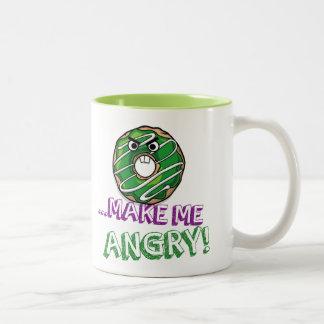 Donut Make Me Angry Funny doughnut Two-Tone Coffee Mug