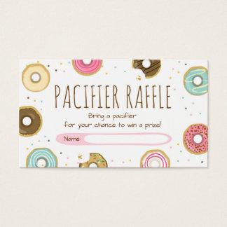 Donut Pacifier raffle card Doughnut Sprinkle