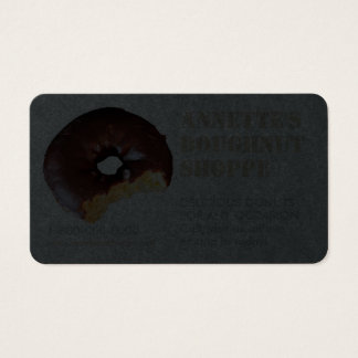 Donut Photo Doughnut Shop Business Cards on Dark