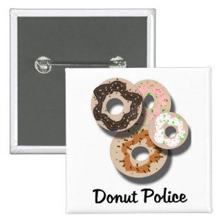 Donut Police 15 Cm Square Badge