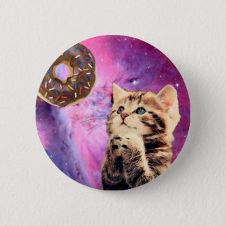 Donut Praying Cat 6 Cm Round Badge