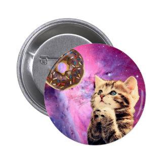 Donut Praying Cat 6 Cm Round Badge