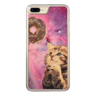 Donut Praying Cat Carved iPhone 8 Plus/7 Plus Case