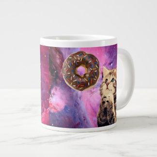 Donut Praying Cat Large Coffee Mug