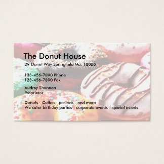 Donut Shop Business Cards