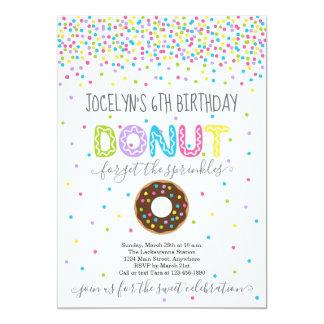 Donut Themed Birthday Party - Rainbow Sprinkles Card
