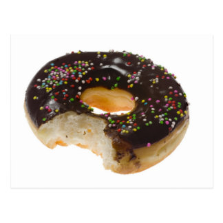 Donut with a bite off postcard