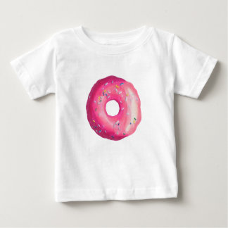 Donut With Pink Frosting And Sprinkles Baby T-Shirt