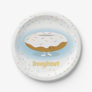 Donut with Sprinkles | Paper Plate