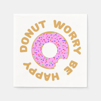 Donut Worry Be Happy Disposable Napkin