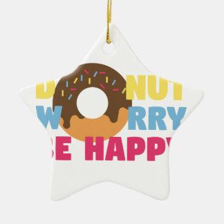 Donut Worry Christmas Ornament