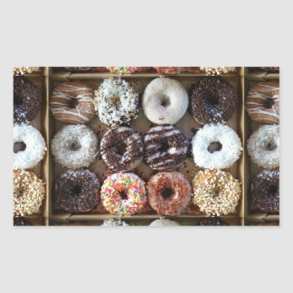 Donuts by the Dozen Photo Rectangular Sticker