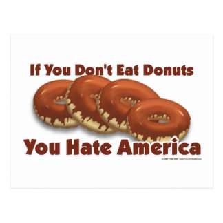 Donuts For America Postcard
