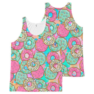 Donuts Galore All-Over Print Tank Top