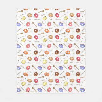 Donuts Homemade Fleece Blanket