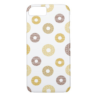 Donuts pattern - brown and beige. iPhone 8/7 case