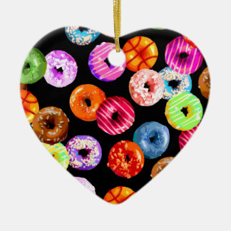 Donuts seamless pattern + your backgr. & ideas christmas ornament
