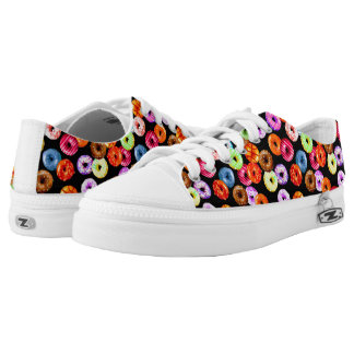 Donuts seamless pattern + your backgr. & ideas low tops