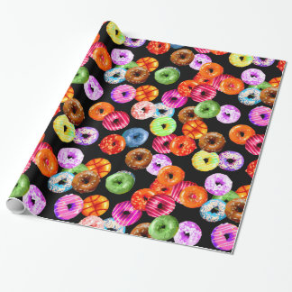 Donuts seamless pattern + your backgr. & ideas wrapping paper