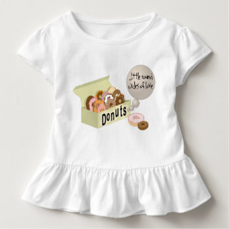 Donuts Toddler Ruffle Shirt
