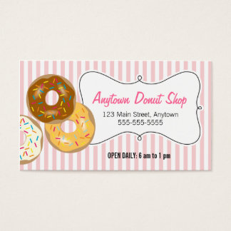 Donuts with Sprinkles, Donut Shop Business Card