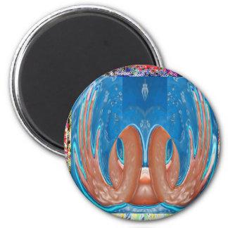 DONZURA - alien intelligent life forms 6 Cm Round Magnet