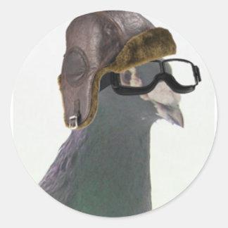 doo the pigeon cropped1.jpg round sticker