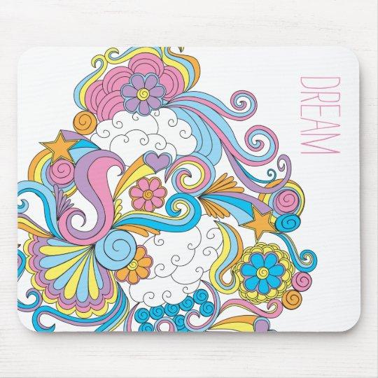 Doodle art mouse pad