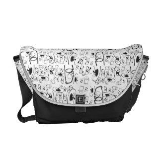 Doodle bag messenger bags