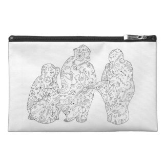 Doodle band on a purse travel accessories bag
