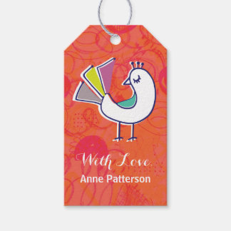 Doodle Bird Personalized Gift Tags