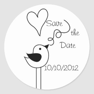 Doodle Bird-Save the Date Stickers