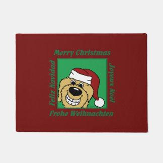 Doodle blond Christmas Doormat
