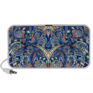 Doodle Case Floral abstract background Travel Speakers