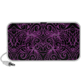 Doodle Case Floral abstract background Portable Speaker