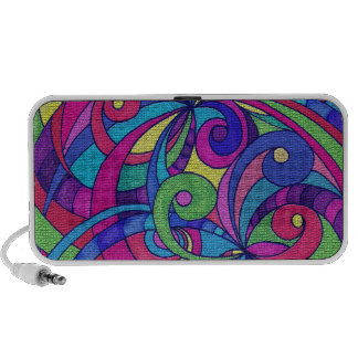 Doodle Case Floral abstract background iPhone Speakers