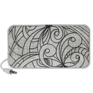 Doodle Case Floral abstract background Notebook Speakers