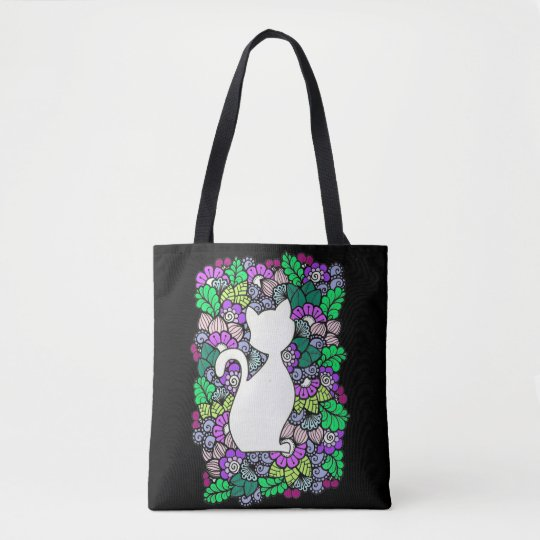 Doodle Cat All-Over-Print Tote Bag