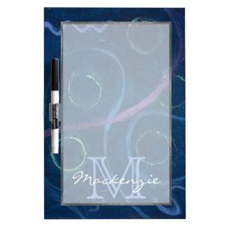 Doodle | Chalk Pink Blue Green Purple Cute Dry Erase Board