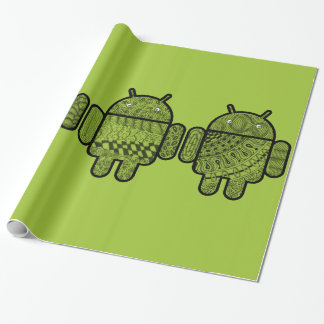 Doodle Characters for the Android™ robot Wrapping Paper