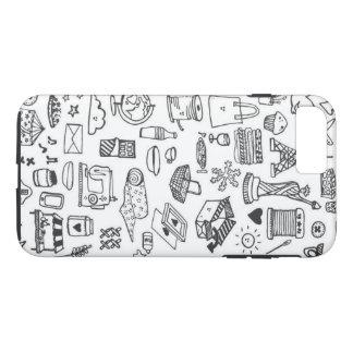 Doodle Crazy iPhone 8 Plus/7 Plus Case