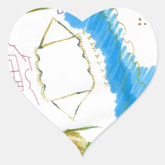 Doodle Dance Heart Sticker