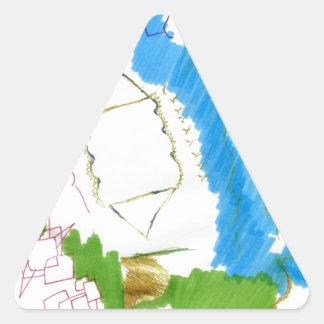 Doodle Dance Triangle Sticker