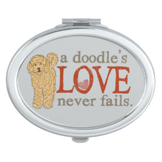 Doodle Dog Love Compact Mirror for Purse