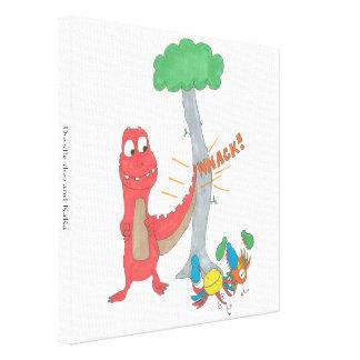 Doodle-Doo and KaKa Canvas Print