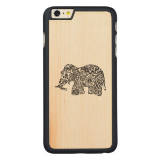 Doodle Elephant Carved® Maple iPhone 6 Plus Case