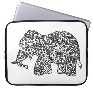 Doodle Elephant Laptop Sleeve