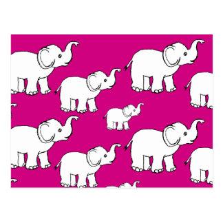Doodle Elephant Postcard