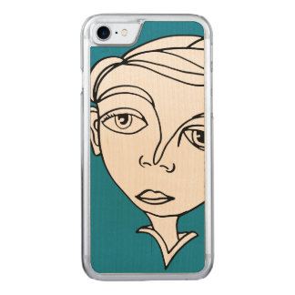 Doodle Face Carved iPhone 8/7 Case